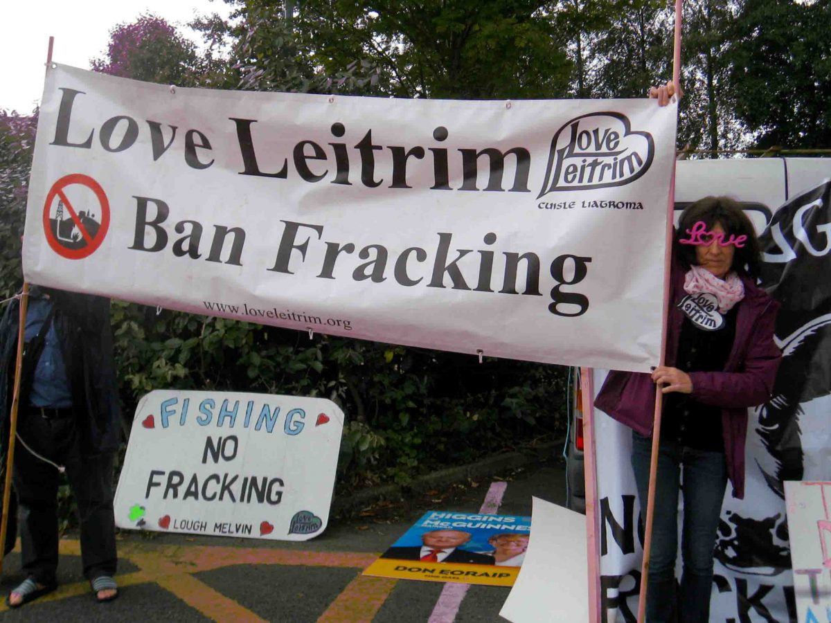 Fracking Protest Carrick on Shannon Co Leitrim 31st July 2014